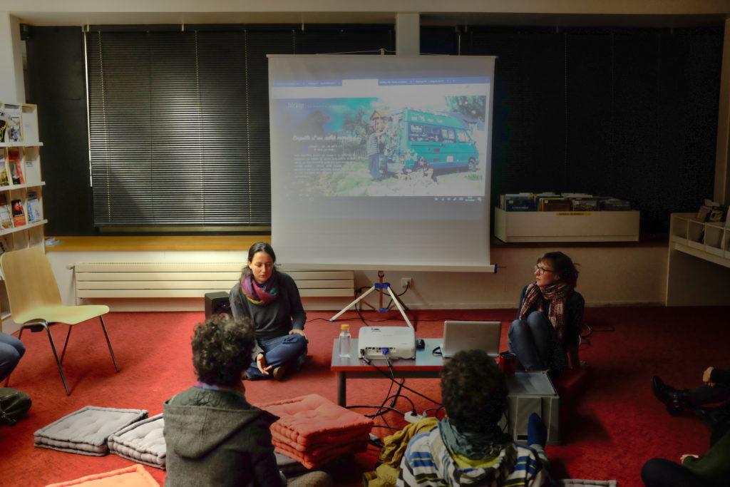 Projection des épisodes de SideWays, la websérie itinérante à la médiathèque de l'INSA de Rennes en novembre